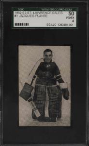 1952 Jacques Plante St. Lawrence Sales rookie