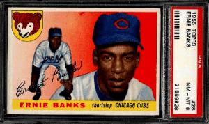 best ernie banks baseball cards