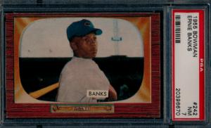 1955 ernie banks bowman baseball card