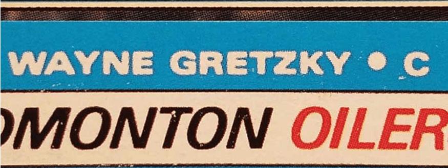 fake wayne gretzky rookie card