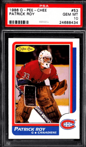 Patrick Roy O-Pee-Chee Rookie Cards