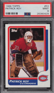 Patrick Roy Topps Rookie Card