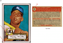 How to Tell if 1952 Topps Mickey Mantle Card is Fake