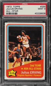 1972 Julius Erving ABA All-Star Topps #255