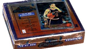 1996 Topps Chrome Basketball Box