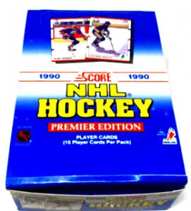1990-91 SCORE HOCKEY UNSEALED WAX BOX