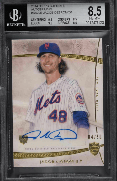 2014 Topps Supreme Jacob DeGrom rookie card