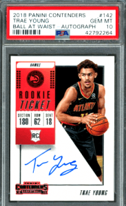 2018 Trae Young Contenders Rookie Ticket rookie card