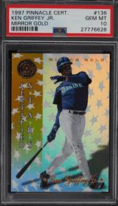 997 Pinnacle Baseball Certified Mirror Gold Ken Griffey Jr. #136