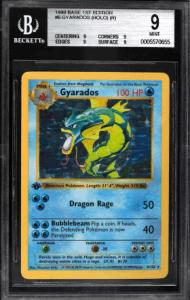 1999 Pokémon Base Set 1st Edition Shadowless Holo Gyarados
