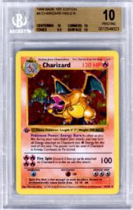 1999 First Edition Chaziard Holo Logon Paul Pokemon Card