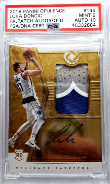 luka doncic opulence holo gold rookie card