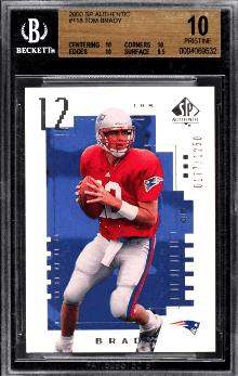 2000 Tom Brady SP Authentic RC /1250
