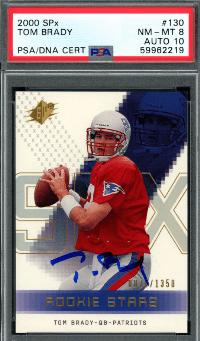 2000 Tom Brady Upper Deck SPX /1350