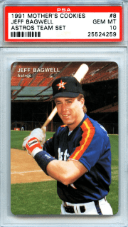 1991 Jeff Bagwell Mother's Cookies Astros Team Set value