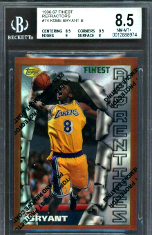996-97 Topps Finest Refractor #74 Kobe Bryant RC
