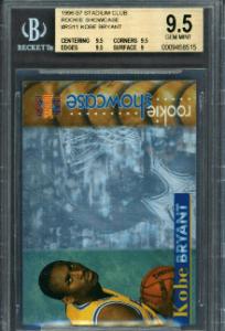 1996 Kobe Bryant Topps Stadium Club Rookie Card Showcase
