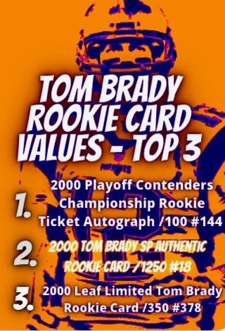 tom brady rookie values