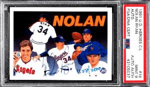 1991 Nolan Ryan Upper Deck Heroes Autograph 18