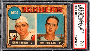 johnny bench rookie cards