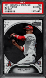 2011 Bowman Sterling Mike Trout Rookie Card