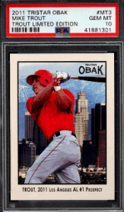 Mike trout Tristar Obak Limited Edition rookie card