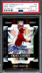 Elite Extra Edition Auto Mike Trout rookie card