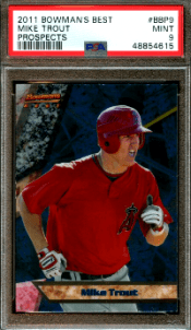 2011 Bowman's Best Prospects Mike Trout Rookie Card