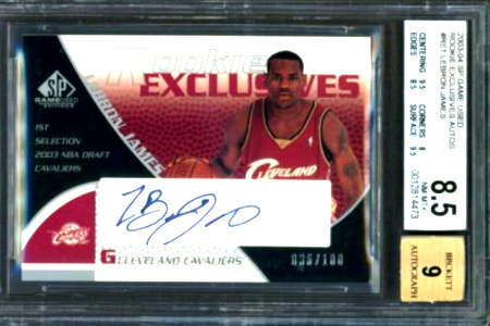 2003 LeBron James SP Game Used Rookie Exclusive Autographs RE1