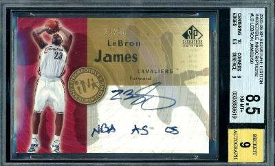 2003 LeBron James SP INKredible INKscriptions RC II-LJ