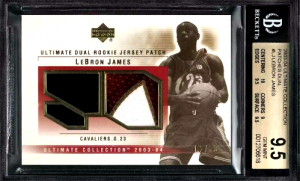 2003 LeBron James Ultimate Collection Ultimate Logos Signature