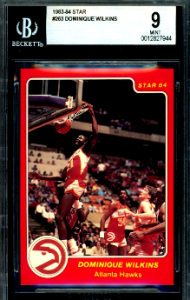 1983 Dominique Wilkins Star Basketball RC
