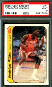 1986 Dominique Wilkins Fleer Sticker RC #11