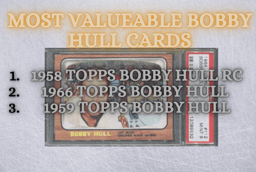most valuable bobby hull rookie cards-min