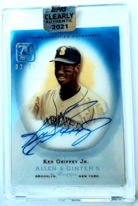 2021 Ken Griffey, Jr. Topps Clearly Authentic Allen & Ginter Auto