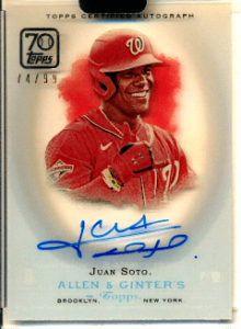 2021 Juan Soto Topps Clearly Authentic Allen & Ginter Auto