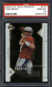 2000 Tom Brady Upper Deck Gold Reserve RC #215