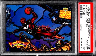 1992 Upper Deck Fanimation International French Michael Jordan #86 PSA 10 GEM