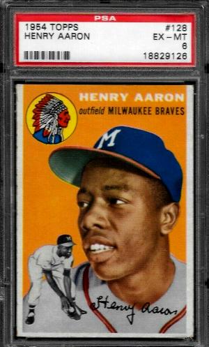 1954 Topps Hank Aaron Braves Rookie RC #128