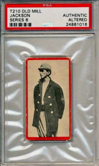 1910 Joe Jackson Old Mill Cigarettes T210 Series 8