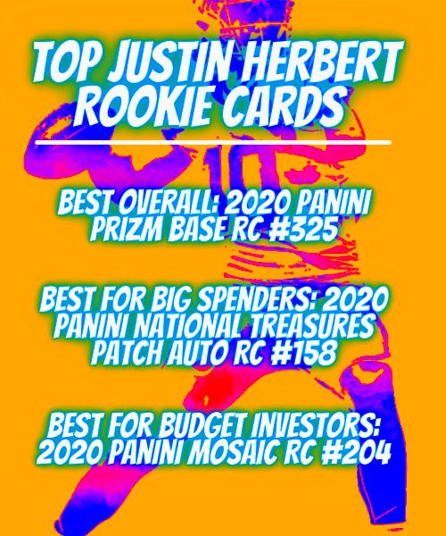 top justin herbert rookie cards