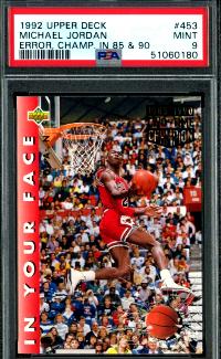 #3. 1992 Michael Jordan Upper Deck Error Card Champ '85 and '95