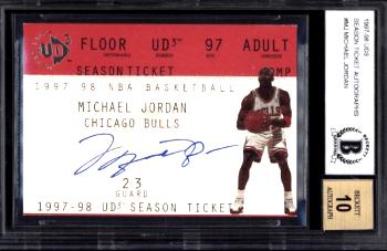 1997 UD3 Season Ticket Autographs