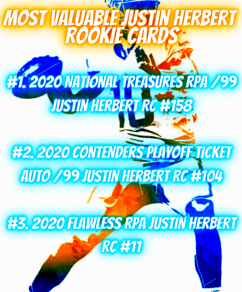most expensive justin herbert rookie cards