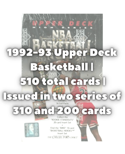 1992 upper deck basketball checklist subset