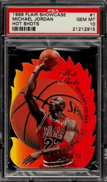1996 Flair Showcase Hot Shots Die-Cut Michael Jordan