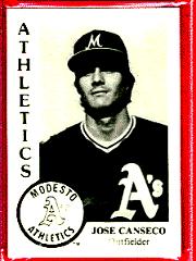 1984 Jose Canseco Chong Modesto A's