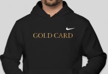 gold card nike hoodie