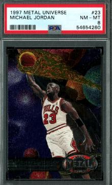 1997 Michael Jordan Metal Universe Chicago Skyline Card